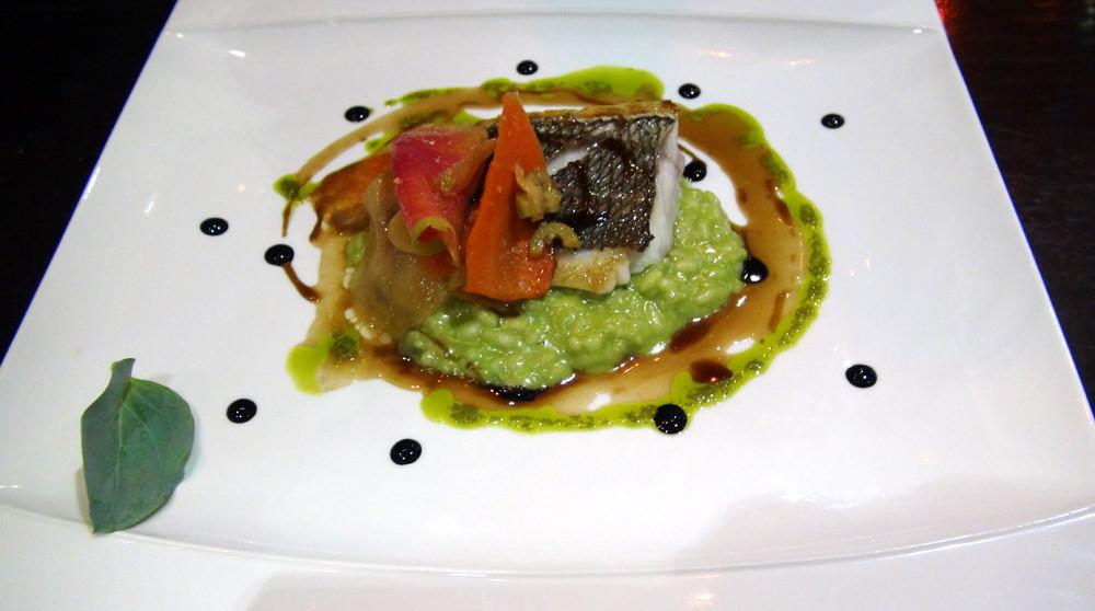 Dorade grise et son risotto verde