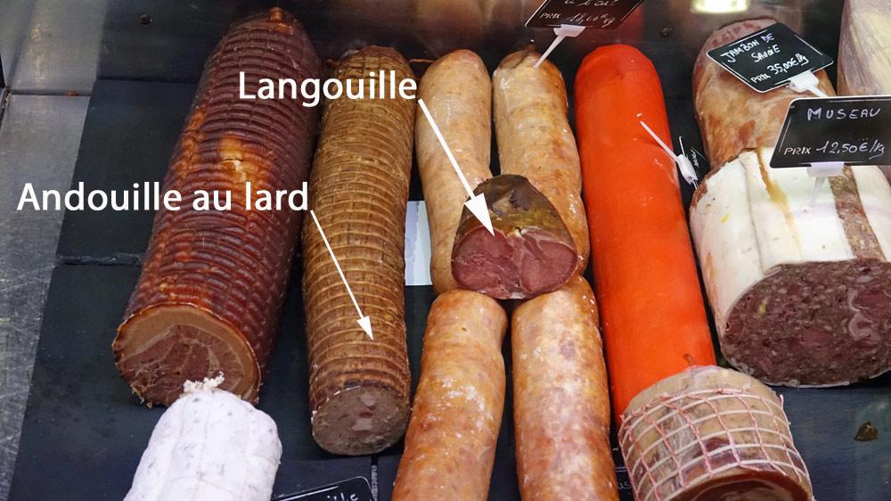 D'autres spécialités maison, dont la Langouille et l'Andouille au lard