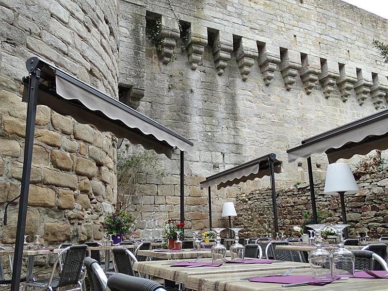 Terrasse (Crédit photo du site web de la Crêperie de la Tour Trompette)