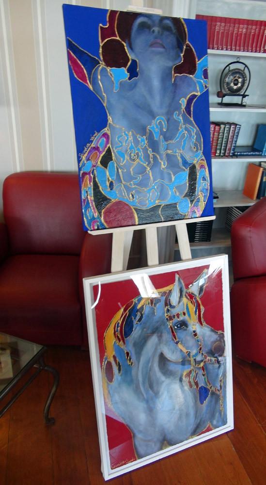 Deux tableaux de l'exposition d'Art du Domaine au Salon Saint-André