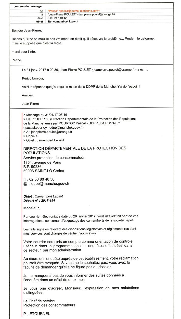 Echange de courriels avec Périco Légasse