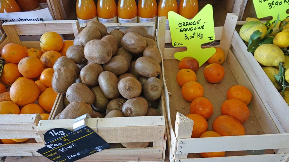 Kiwi et oranges sanguines d'Elne