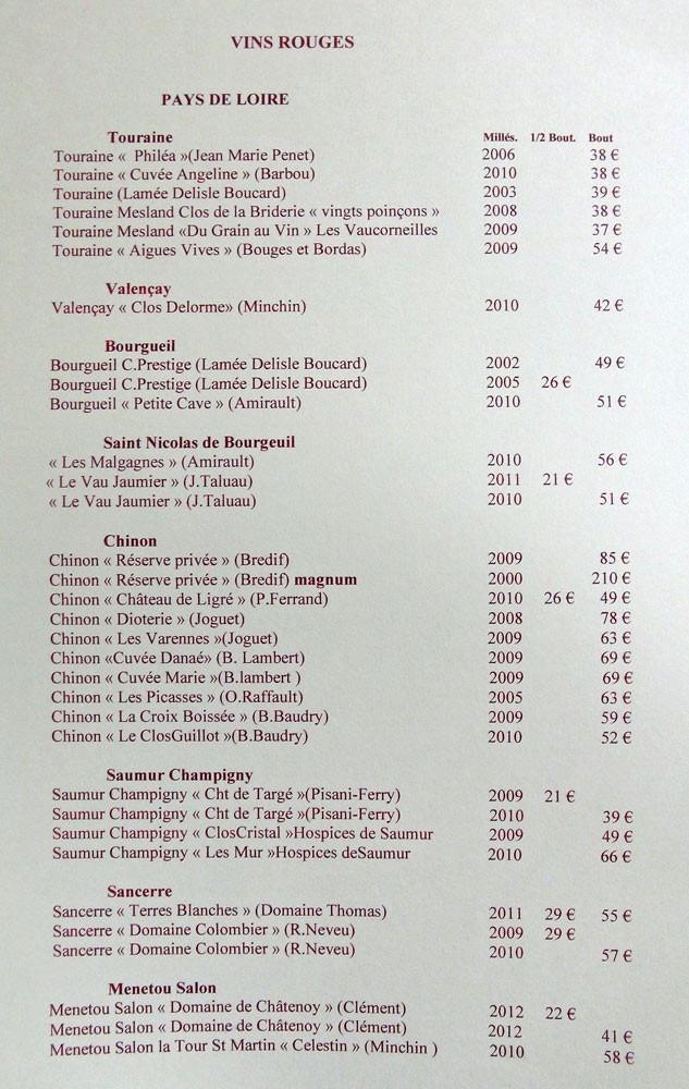 """Vins rouges """"Pays de Loire"""""""