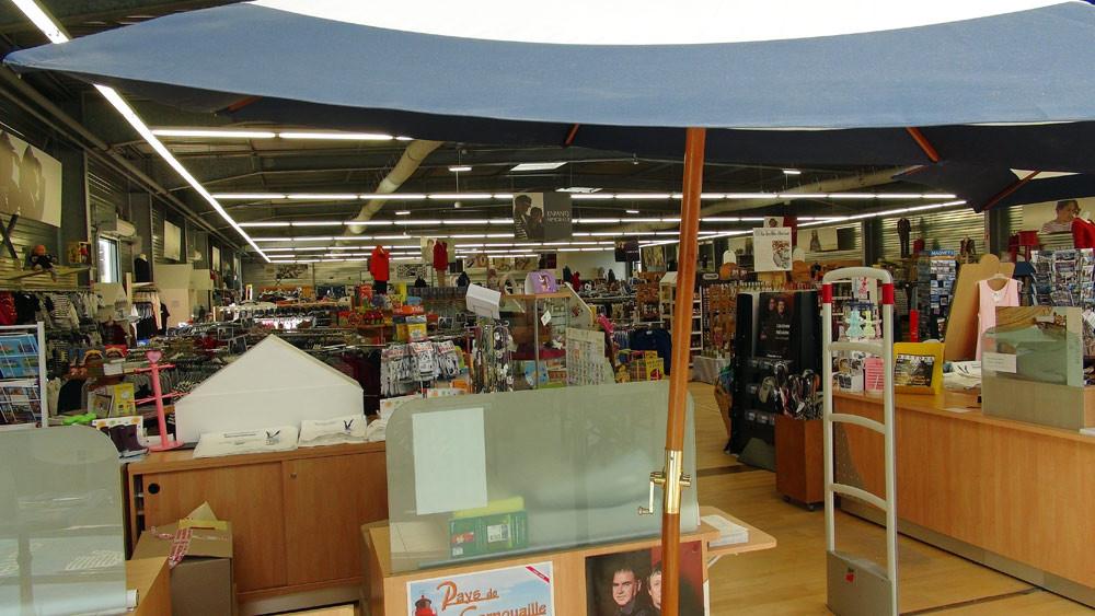 Vue de l'intérieur du magasin