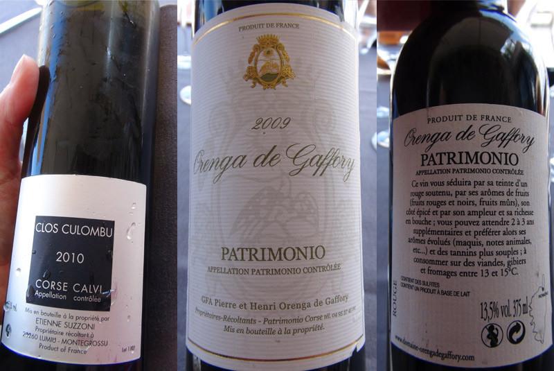 Les deux vins choisis