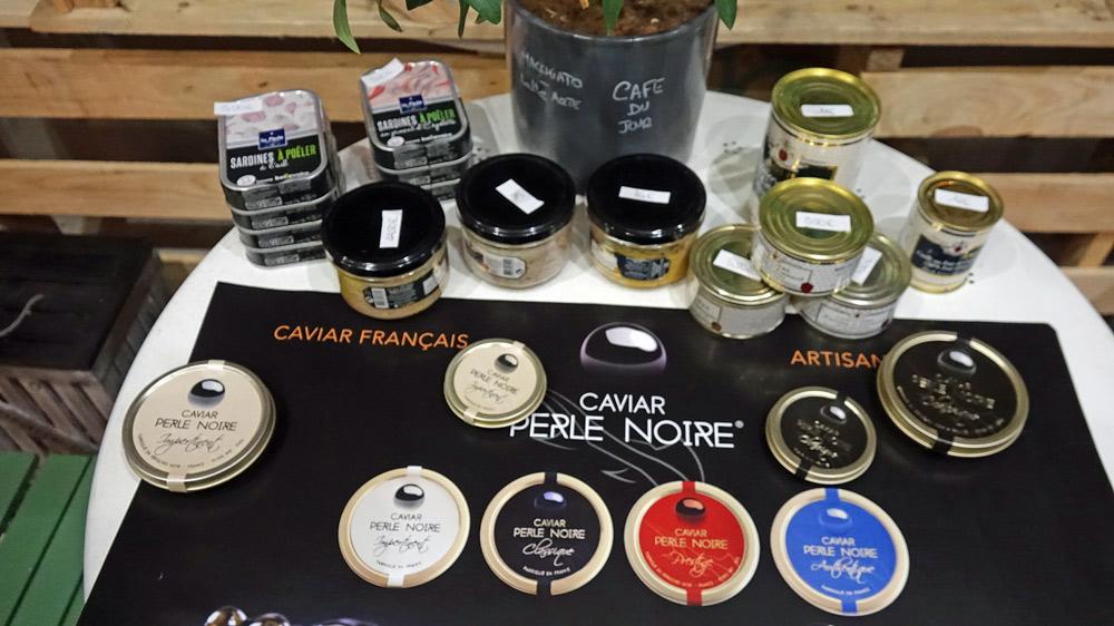 Les caviars prévus pour la dégustation