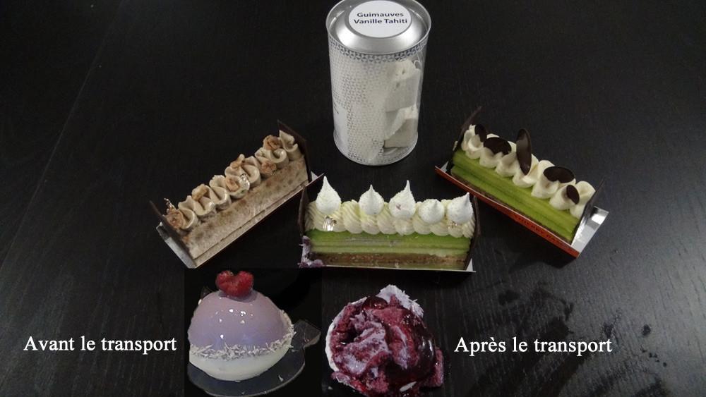 Les gâteaux achetés : Russe, Pavlova, Tatte au citron et Pina colada
