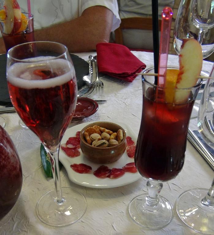 Apéritifs : cocktail Fraîcheur et cocktail Chéri