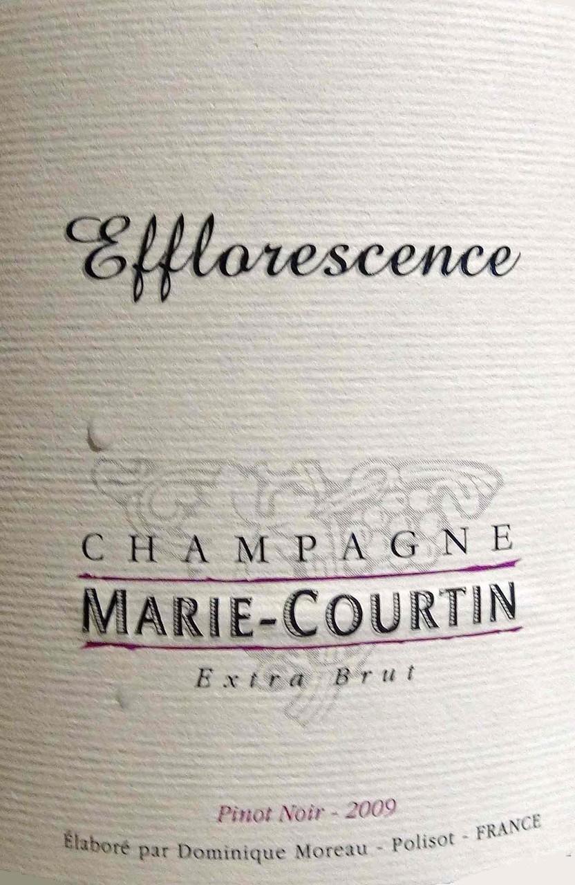 """Champagne Marie-Courtin """"Efflorescence"""" de Dominique Moreau"""