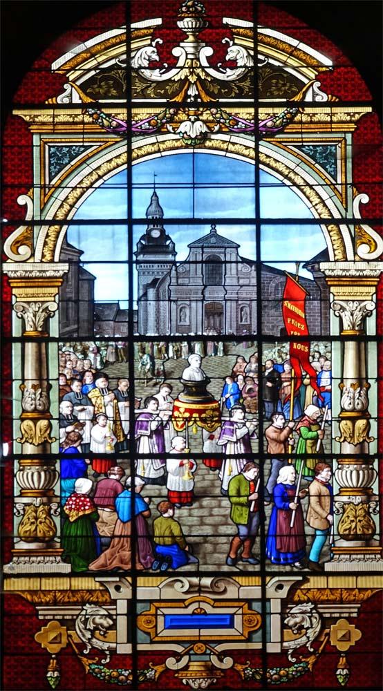 Vitrail de l'église Saint-Mathurin