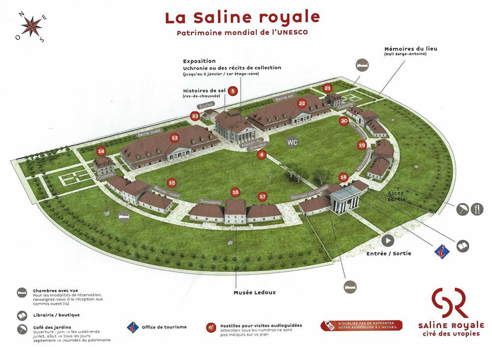 Le plan de la Saline Royale d'Arc-et-Senans