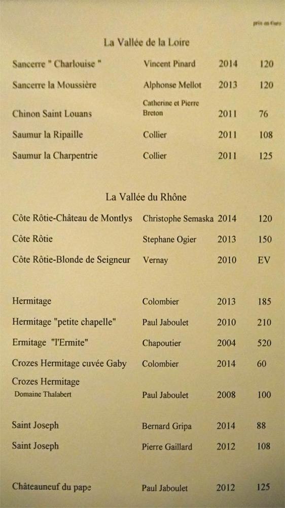 Vins rouges : Vallée de la Loire et Vallée du Rhône