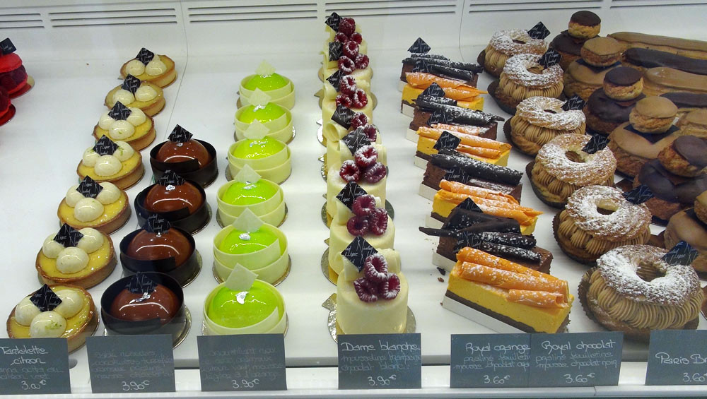Tartelette citron vert – Sans nom 1 - Sans nom 2 – Dame blanche – Royal orange – Royal chocolat – Paris-Brest - 9 octobre 2014