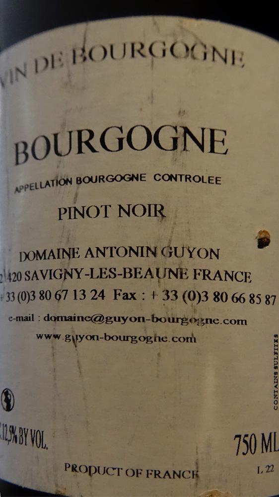 Bourgogne pinot noir - Domaine Antonin Guyon