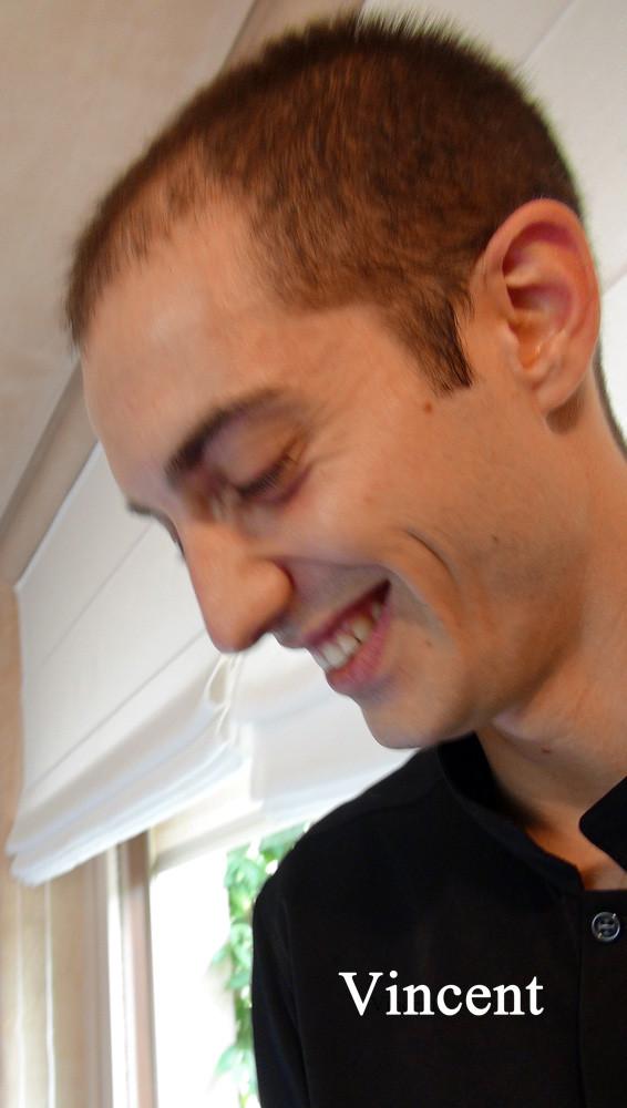 Vincent, toujours avec le sourire
