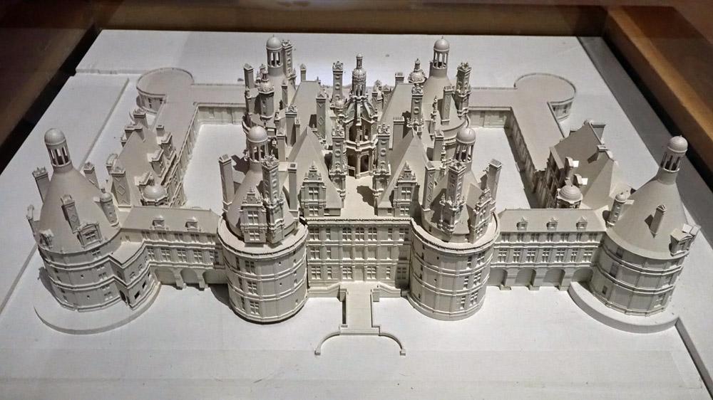 Maquette du château de Chambord