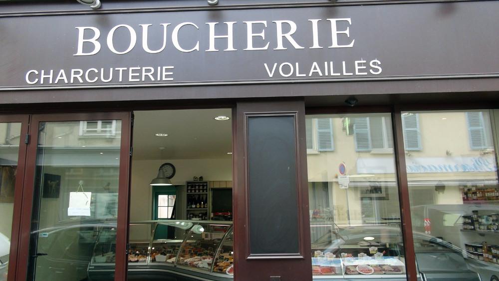La façade de la boucherie de François Neveu