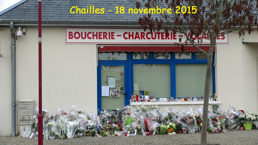 La façade de la boucherie le 18 novembre 2015