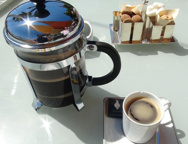 """Café en """"Bodum"""""""