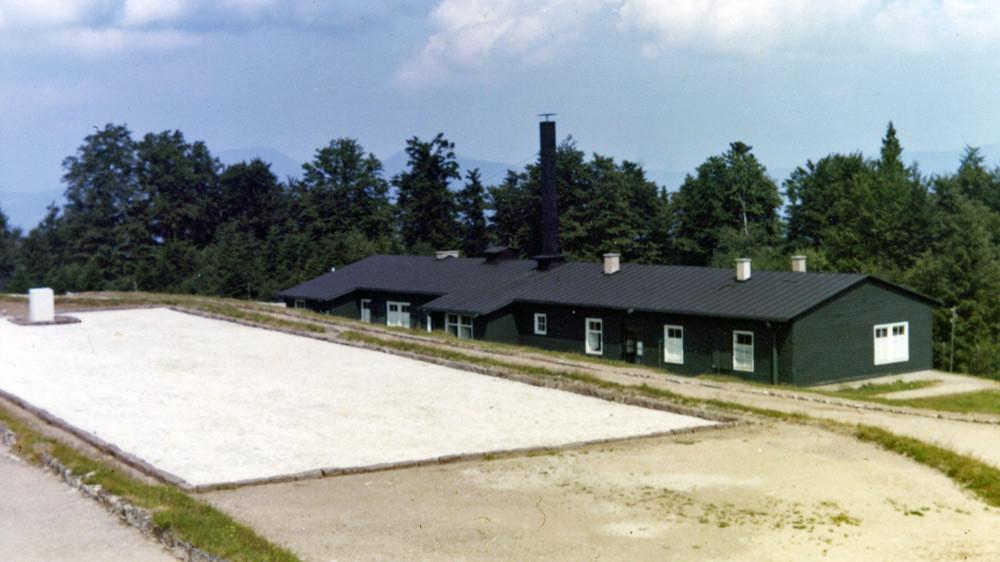 Le bâtiment du four crématoire - Eté 1970