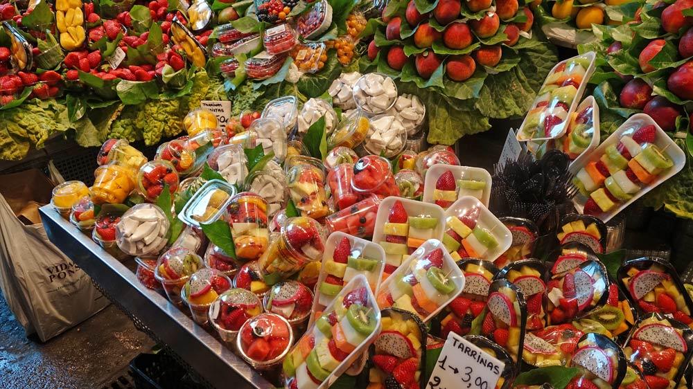 Fruits pré-découpés