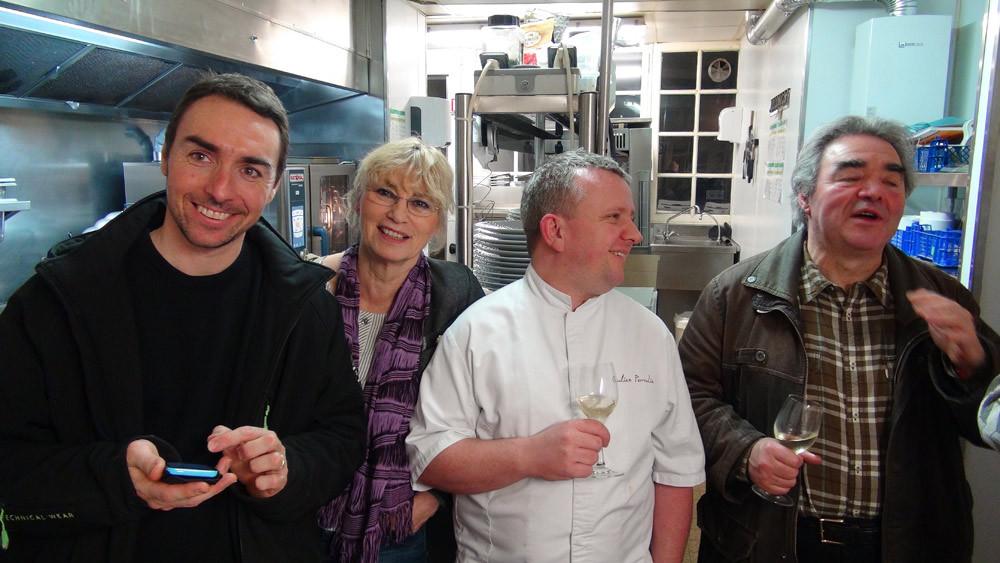 En cuisine, avec Fabrice Dallais, Pascale Poulet, Julien Perrodin et Jacky Dallais