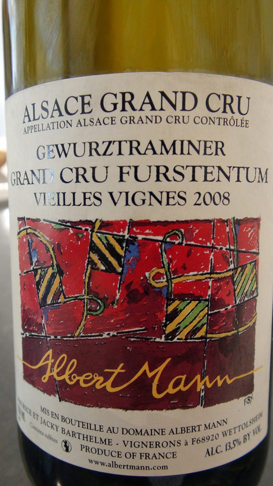 Gewurztraminer 2008 Grand cru Furstentum Vieilles vignes d'Albert Mann