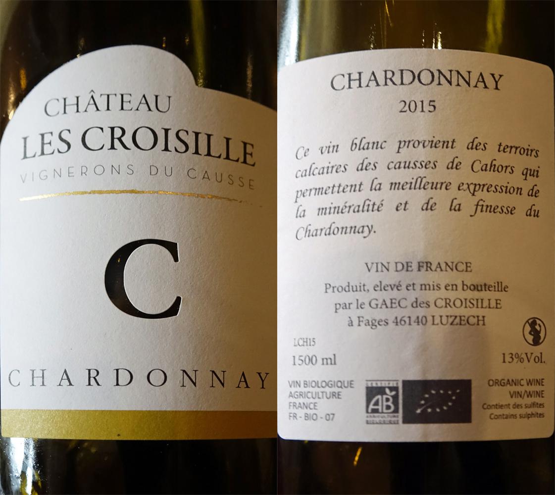 """VDF 2015 """"Chardonnay"""" Château Les Croisille sur la Caillette de chou truffé et l'Œuf canaille diablement truffé"""