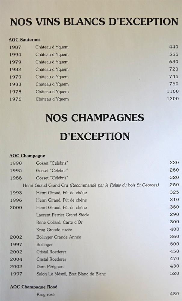 Vins blancs et Champagnes d'exception