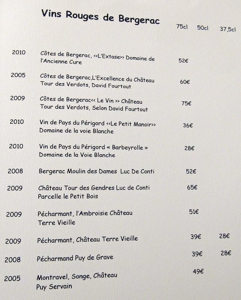 Vins rouges de Bergerac