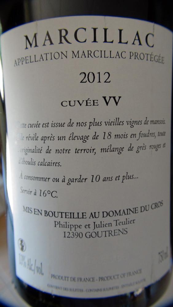 Marcillac Vieilles vignes 2012