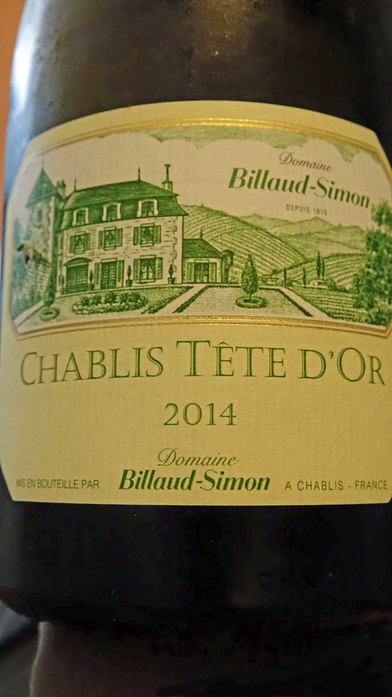 "Chablis 2014 ""Tête d'Or - Billaud-Simon"