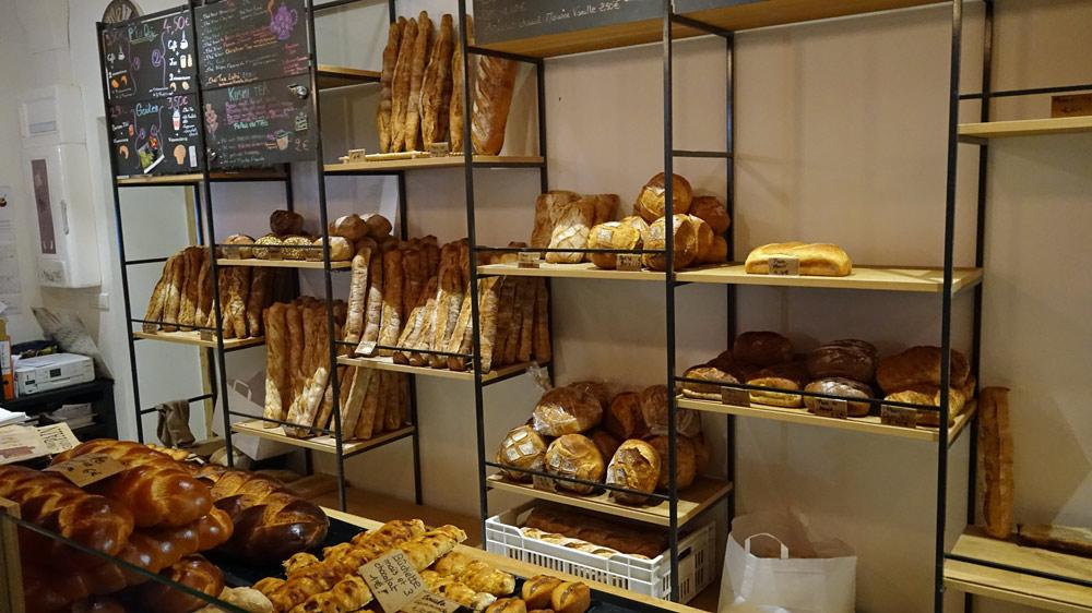 Quelques-uns des pains en vente