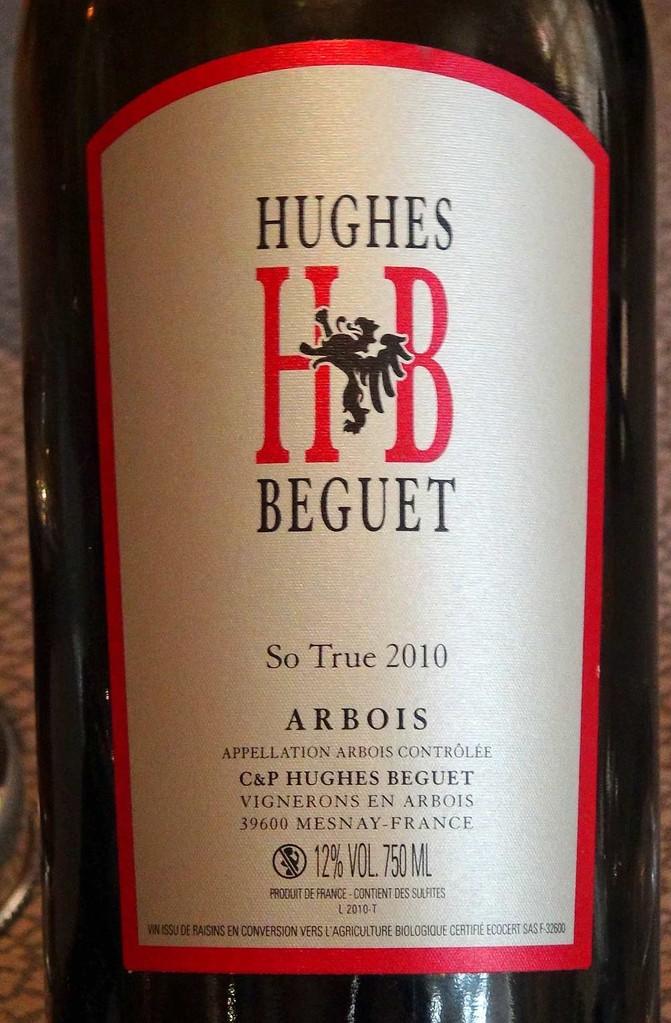 Arbois rouge 2010 cépage Trousseau, de Hughes Béguet
