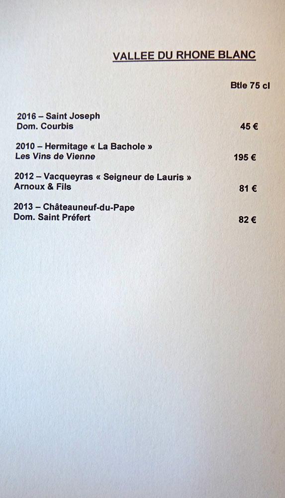 Vins blancs de la Vallée du Rhône