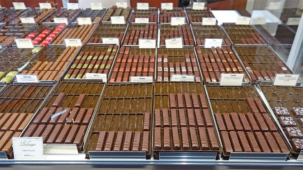 Les chocolats à l'unité
