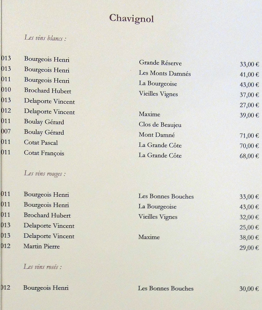 Sancerre classé par communes (suite)