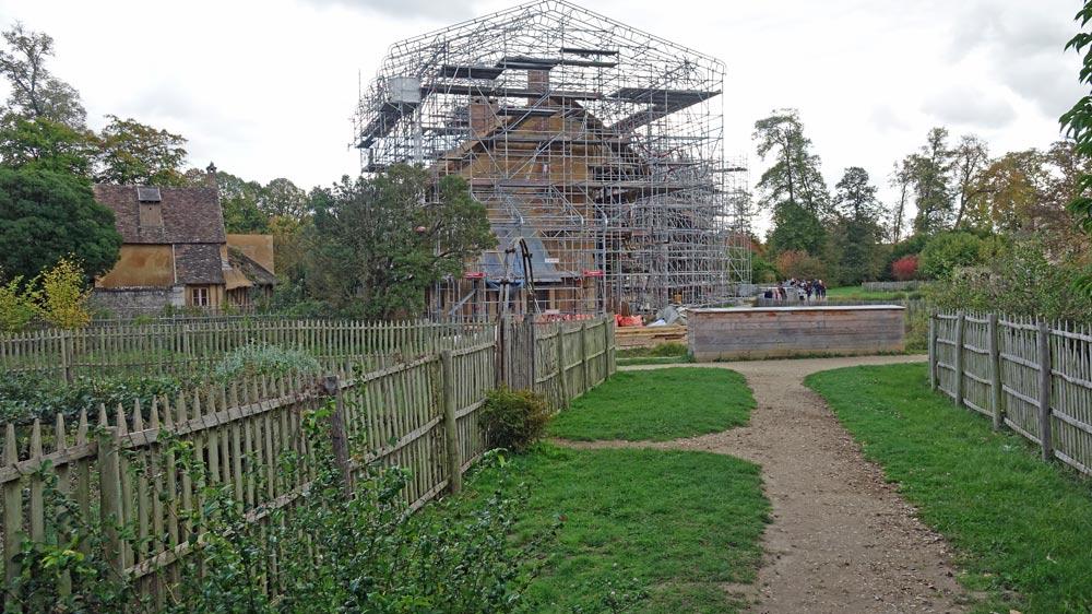 La Maison de la Reine en pleine restauration le 30 septembre 2017