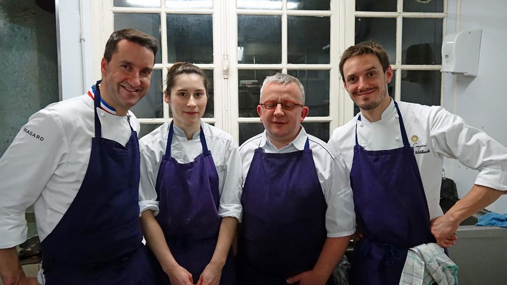Notre quatuor du soir en cuisine