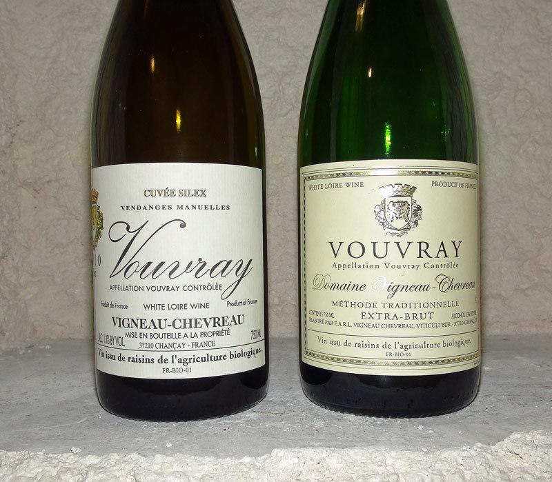 Deux des vins dégustés
