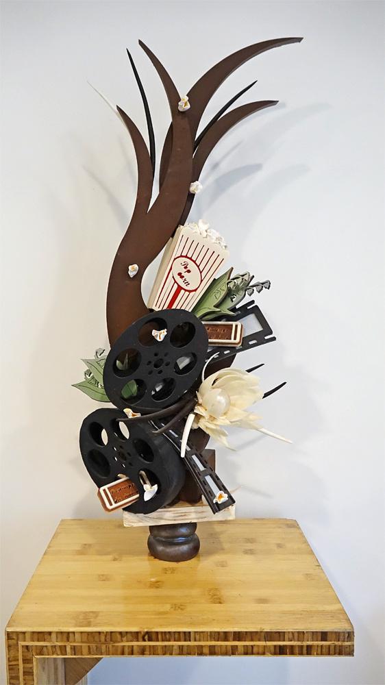 Sculpture en chocolat exposée