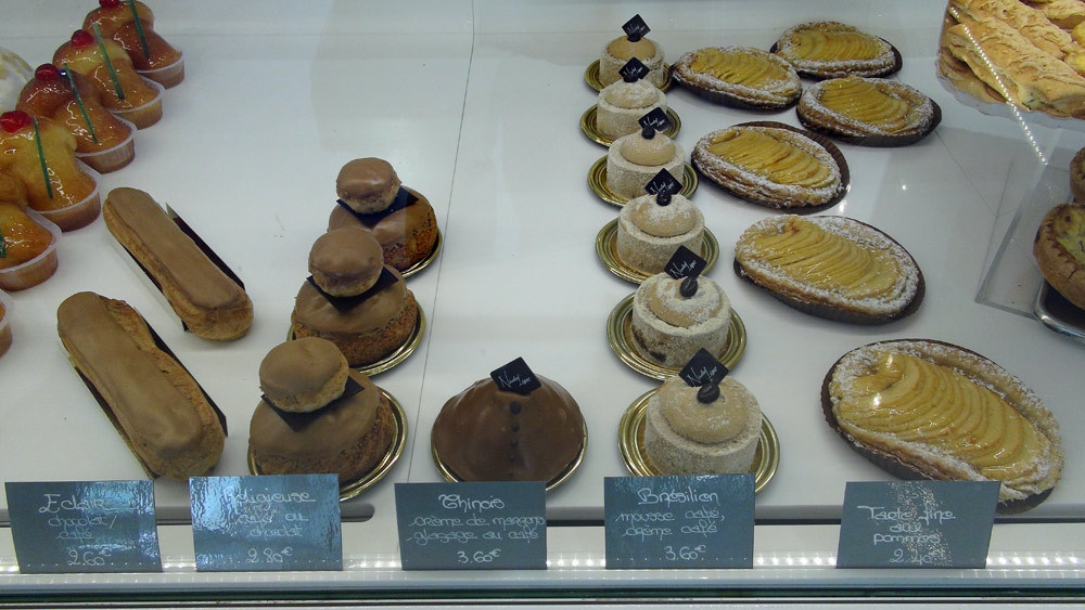 Eclair café - Religieuse café - Chinois - Brésilien - Tarte fine aux pommes - 26 septembre 2014