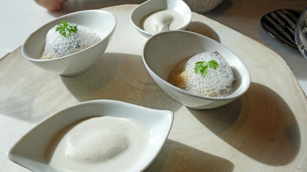 Patience : Glace à l'huître- Panais rôti, émulsion anisée
