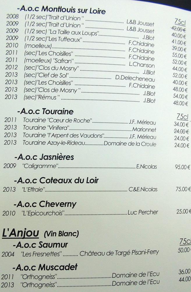 Vins blancs de Loire