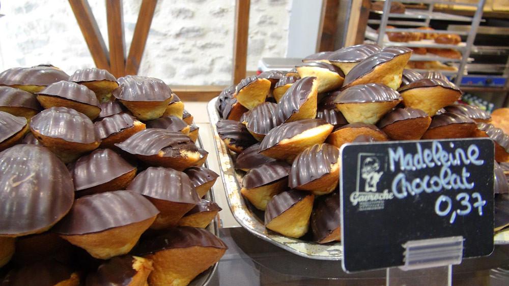 Les madeleines au chocolat (spécialité)
