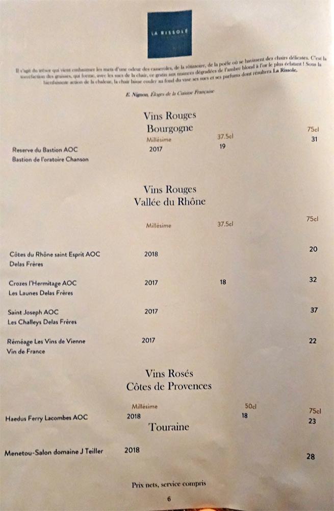 Vins rouges de Bourgogne et du Rhône - Vins rosés de Provence et de Touraine