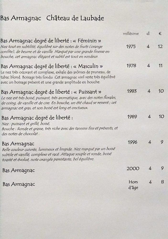 Armagnacs Laubade