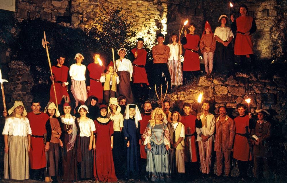 Participants aux spectacles nocturnes - 1989