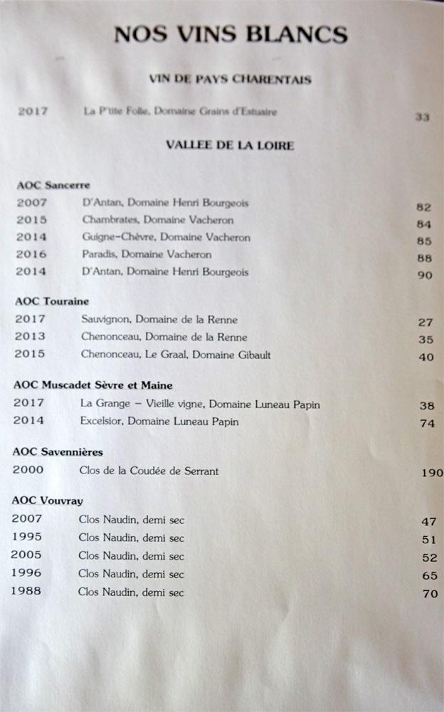 Vins blancs (VDP Charentes - Loire)