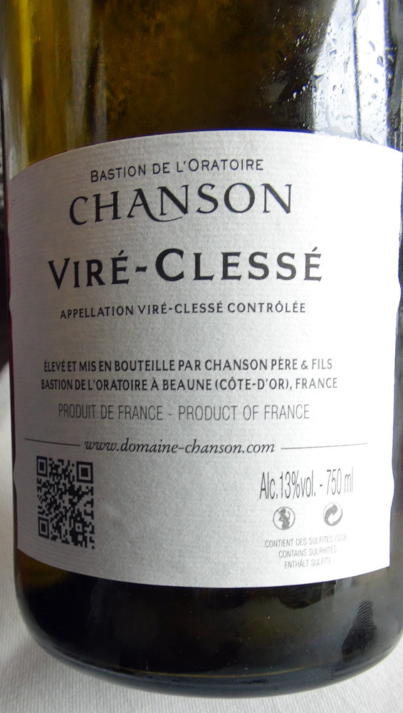Viré-Clessé 2012 (l'étiquette réglementaire)